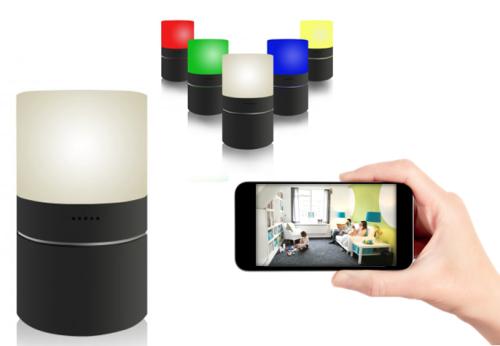 b600f6e4cdb352 Lampa LED z ukrytą kamerą WIFI detekcja ruchu Full-HD Nexus