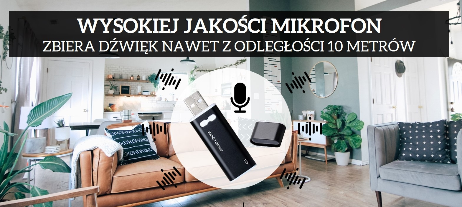 Dyktafon szpiegowski pendrive VX-13 8GB detekcja głosu