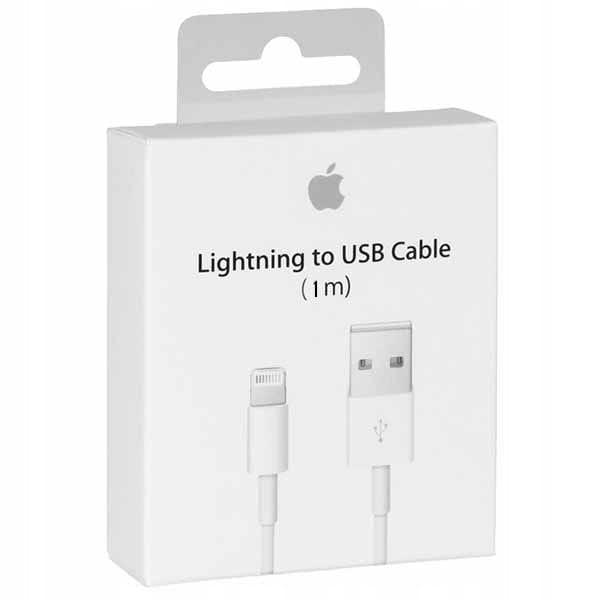 Oryginalny kabel USB iPhone iPad iPod LIGHTNING 8 PIN 1M