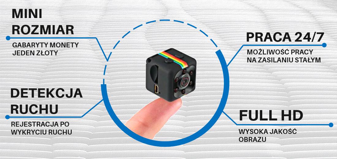 Mini kamera szpiegowska SQ11 detekcja ruchu i kamerka internetowa