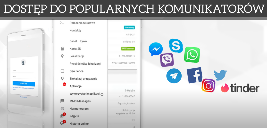 Social Media FB, Instagram, Skype, Messenger Spyone