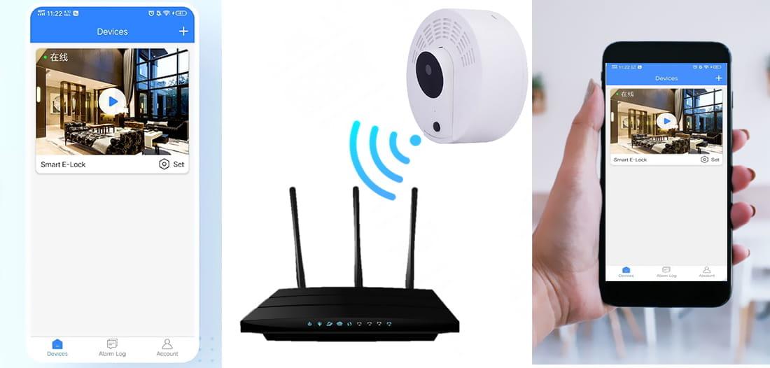 Kamera czujka Wifi LS8 PIR